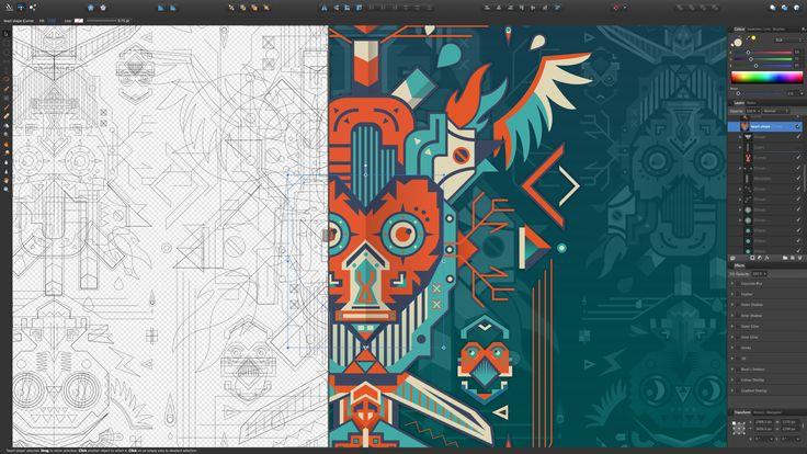 Crea imágenes vectoriales impresionantes con Affinity Designer - http://www.soydemac.com/crea-imagenes-vectoriales-impresionantes-con-affinity-designer/