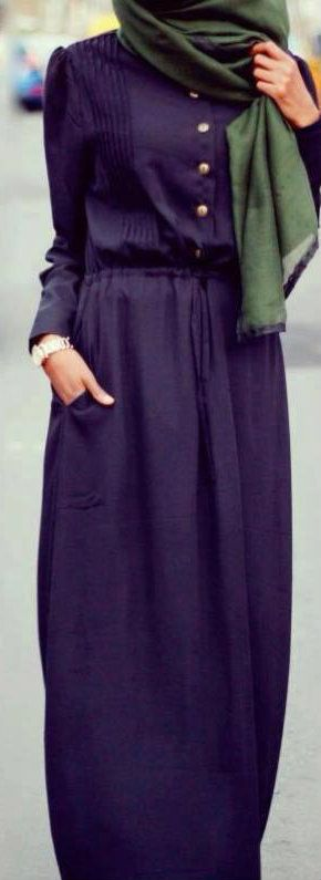 ..Simple and Modest Hijabi Outfit Idea..