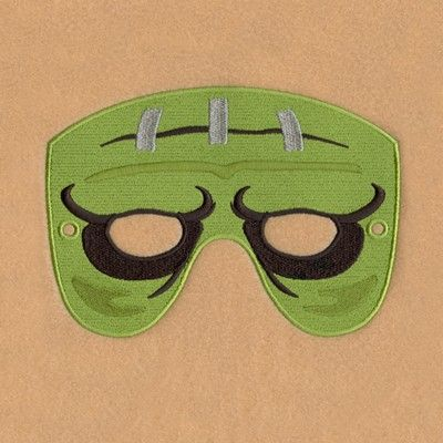 Frankenstein Mask Small Embroidery Design | AnnTheGran