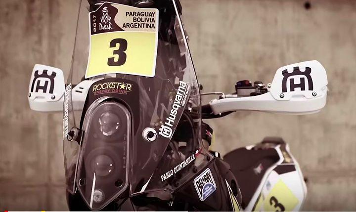 Pablo Quintanilla and Pela Renet ready to battle for the 2017 Dakar Rally win aboard Rockstar Energy factory Husqvarnas.