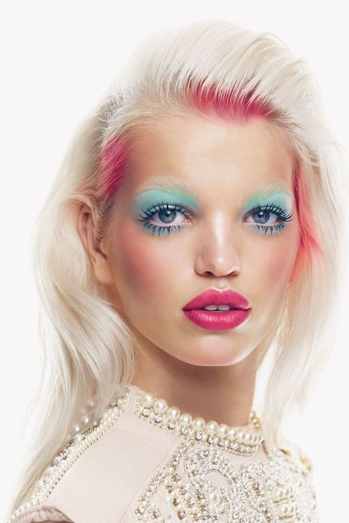 Daphne Groeneveld - Vogue UK November 2012   Photo by Patrick Demarchelier    Makeup by Yadim blends - love the colours