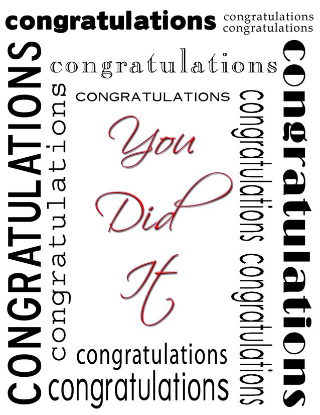 9 best Congratulations images on Pinterest Congratulations card - congratulation templates