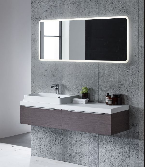 A slim LED illuminated mirror with bright practical energy saving LED lights. Slim design, only 25mm deep and can be hung portrait or landscape. Comes with a heated demister pad to prevent mirror steaming up and is IP44 compliant for safe use in the bathroom. Three sizes available, select form the drop-down below.