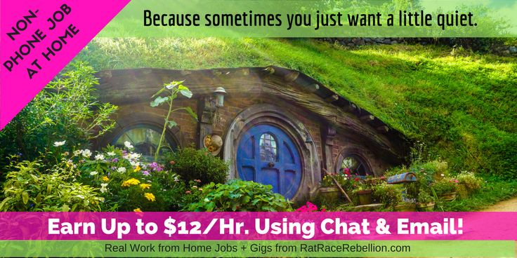 Earn Up to $12/Hr. from Home Using Chat and Email - Real Work From Home Jobs by Rat Race Rebellion