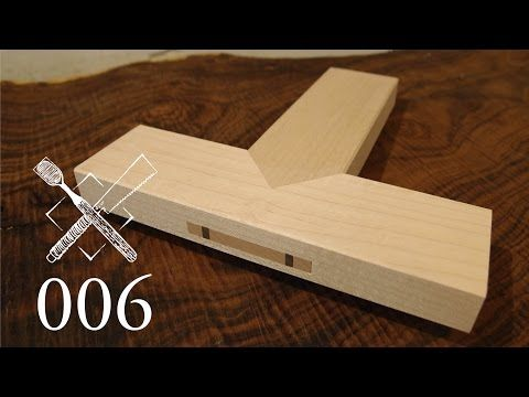 Joint Venture Ep.1: Wedged, mitered through tenons (Japanese Joinery) - YouTube