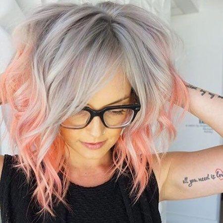 Haar rosa graue Farbe – Haare und Beauty