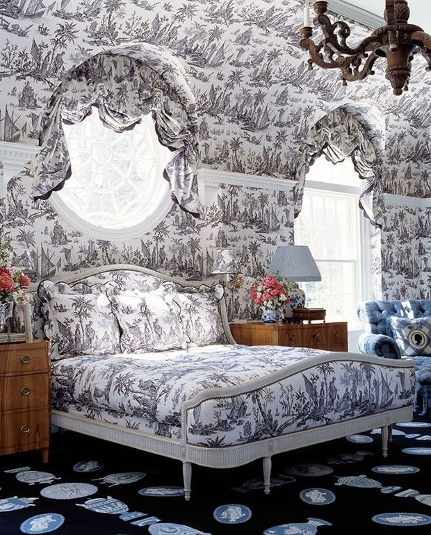 Bedroom Decorating Ideas Totally Toile: 104 Best Images About Toile Decor On Pinterest
