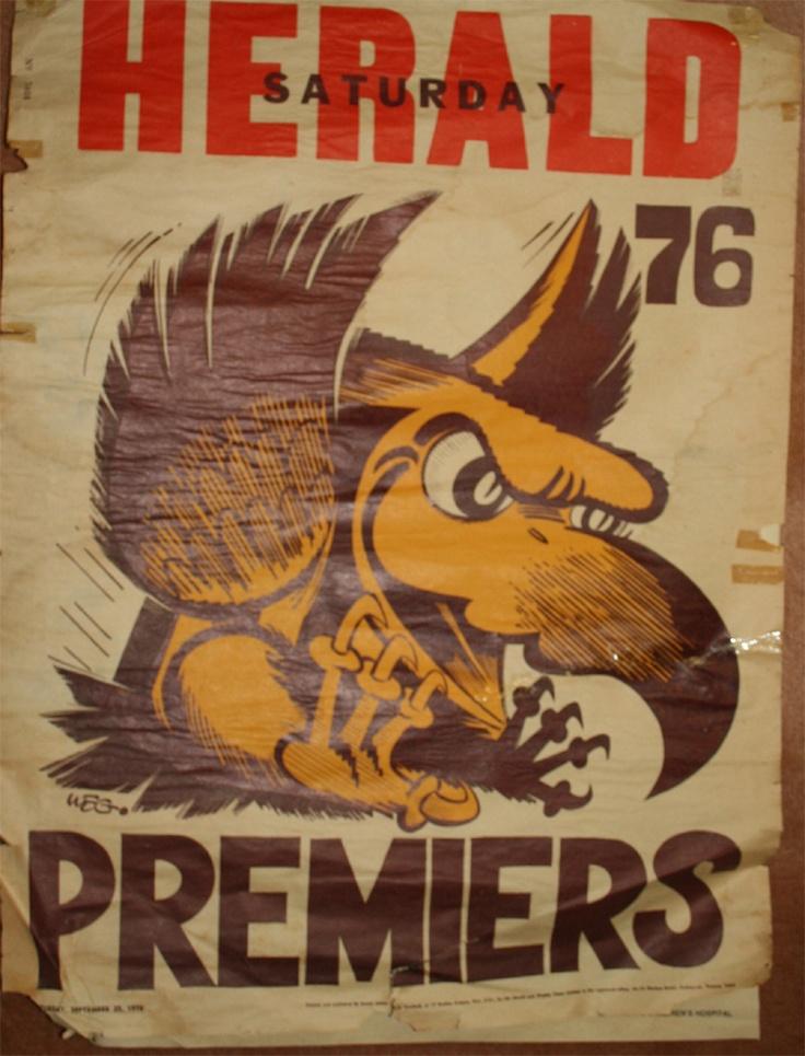 Weg Premiers Poster 1976 Hawthorn Hawks