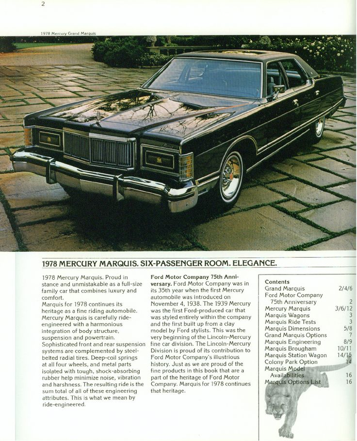 1978 Mercury Grand Marquis Four Door Pillared Hardtop