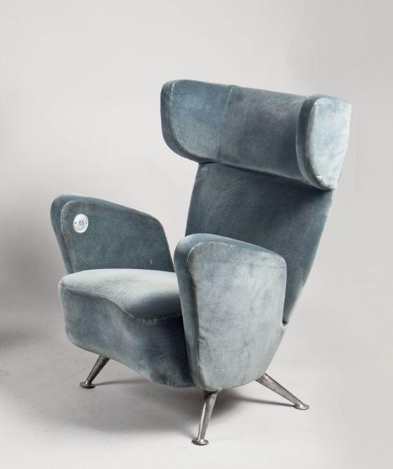 Gio Ponti; Lounge Chair for the ETR 300 'Settebello' Train, 1953.