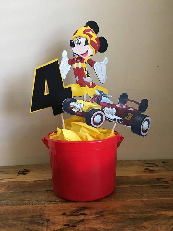 Mickey y los centros de mesa de corredores Roadster