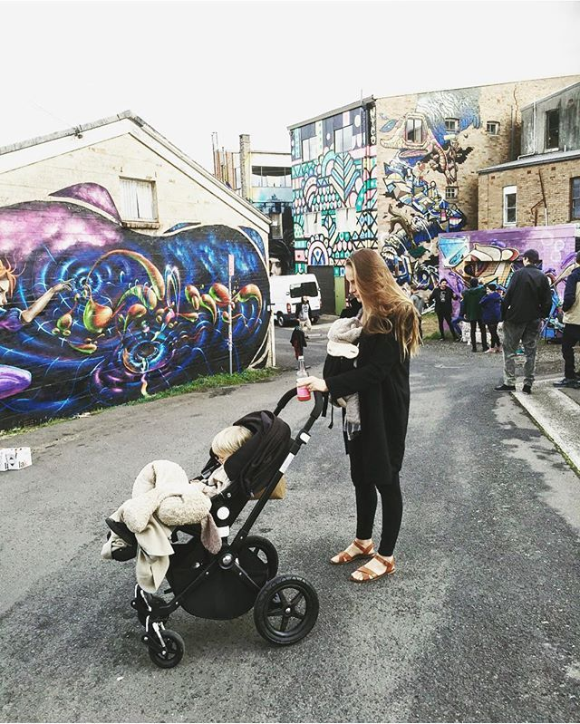lonijane . 'Strolling' through the street art at the Winter Magic Festival