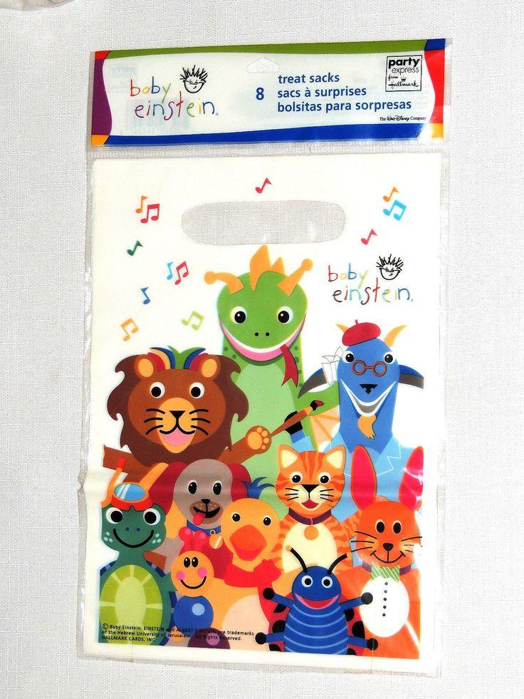 Baby Einstein 8-Plastic Loot Bags Party Supplies