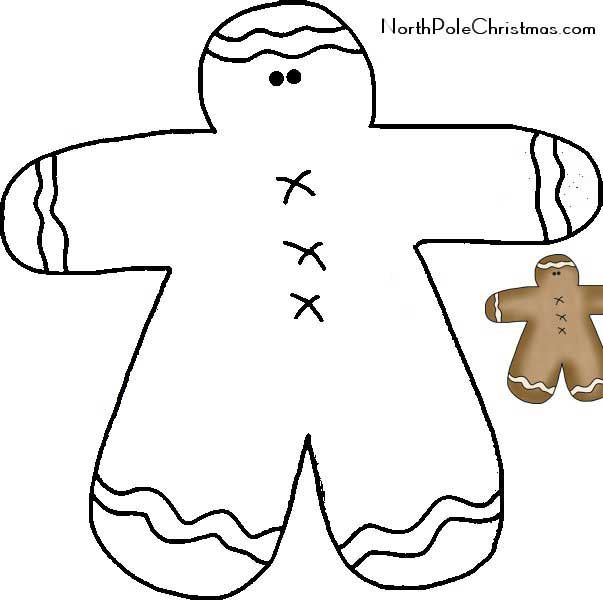 259 best Christmas templates and patterns images on Pinterest - gingerbread man template