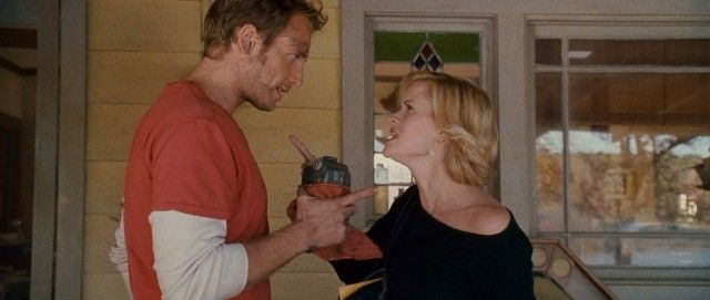 Finger pointing occurs when Jake Perry (Josh Lucas) and his wife Melanie (Reese Witherspoon) cross paths for the first time in seven years. -- Sweet Home Alabama: 10th Anniversary Edition Blu-ray Review