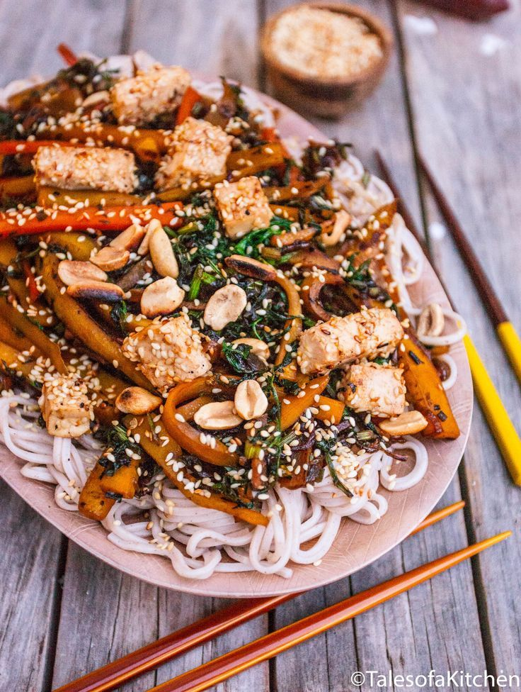 Carrot And Ginger Soba Noodles With Maple And Sesame Glazed