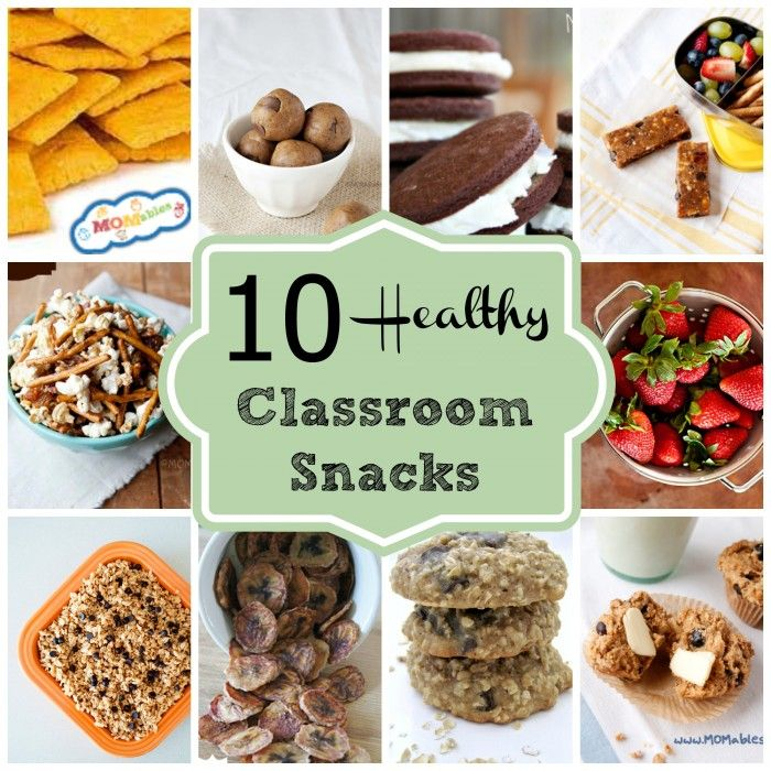 10 Healthy Classroom Snacks via MOMables will help you bring snacks to class everyone can eat!