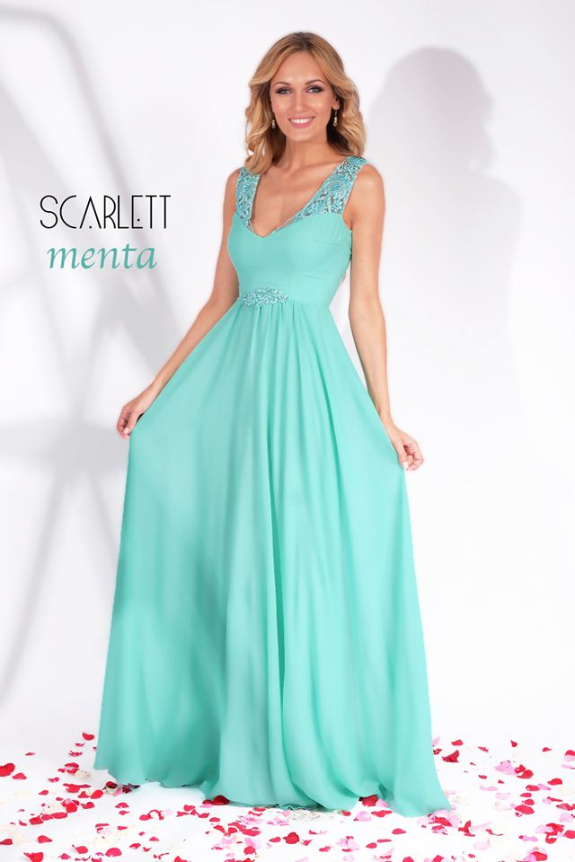 Lovely long evening gown made from fine veil with precious applications, in mint hues: https://missgrey.org/en/dresses/long-mint-evening-dress-precious-lace-veil-scarlett/555?utm_campaign=august&utm_medium=rochie_scarlett_menta&utm_source=pinterest_produs