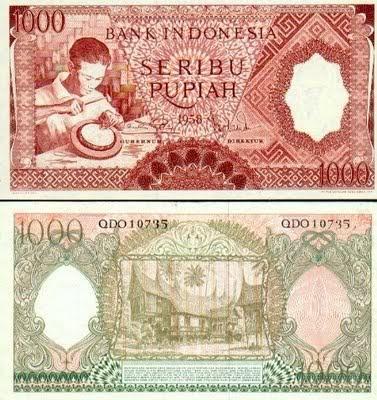 Sampai sekarang mata uang Indonesia sudah terdiri dari bermacam-macam bentuk dan jenisnya. Mata uangnya pun sering mengalami perubahan dan pergantian. Design Uang Pecahan Seribu rupiah pun juga sudah mengalami perubahan dan pergantian berulang kali dari tahun ke tahun. Berikut Model Dunia Bisnis menampilkan model dan Design Uang Pecahan Seribu Indonesia dari tahun 1952 sampai 2009