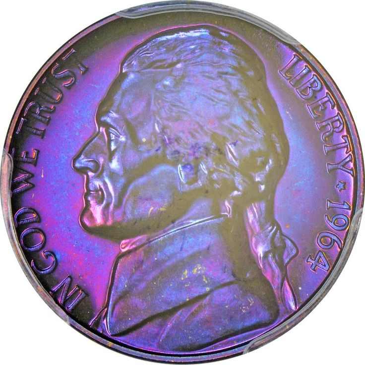 JJ014 1964 Jefferson 5 Cents PR 67 CAC gorgeous purple and blue combine shippin | Coins & Paper Money, Coins: US, Nickels | eBay!