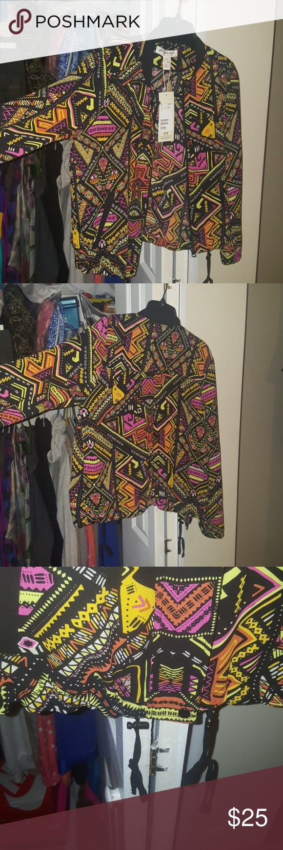 H&M x Coachella ORIGINAL Collection Bomber Jacket H&M <3 Coachella 2016 Collection Bomber jacket. Very light weight Mesh Material. Tribal Print. Never Worn w tags. H&M Jackets & Coats