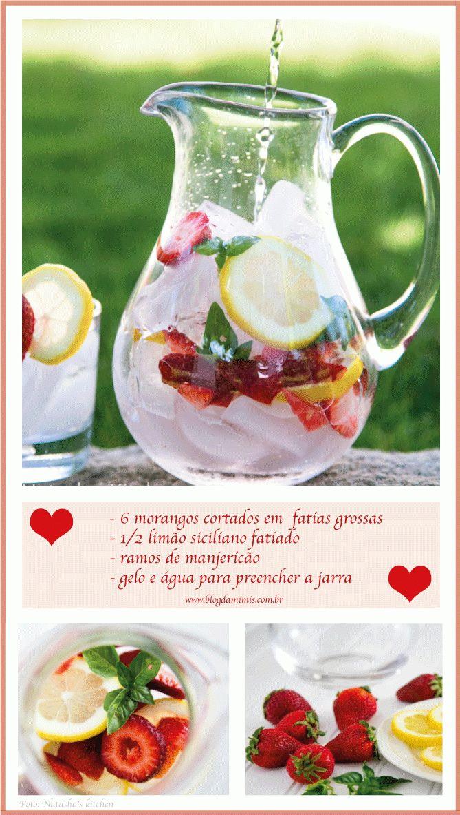 Água aromatizada de morango