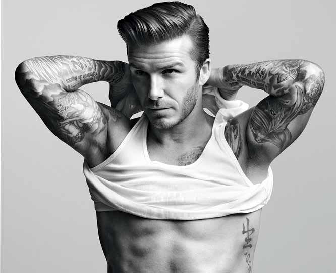 It's not easy to keep your eye on the ball when your briefs are bunching. And no one knows this better than British soccer icon David Beckham. Duly motivated, he joined forces with Swedish retailer H to create a new line of briefs, boxers, and undershirts.