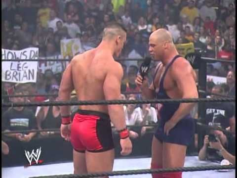 John Cena vs Kurt Angle - Smackdown 27.06.2002. - YouTube