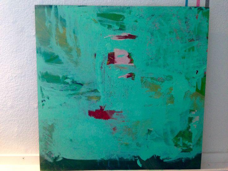 Acryl på lærred. Kristina Borregaard Hall. Kriskrea. Grøn=håbets farve.