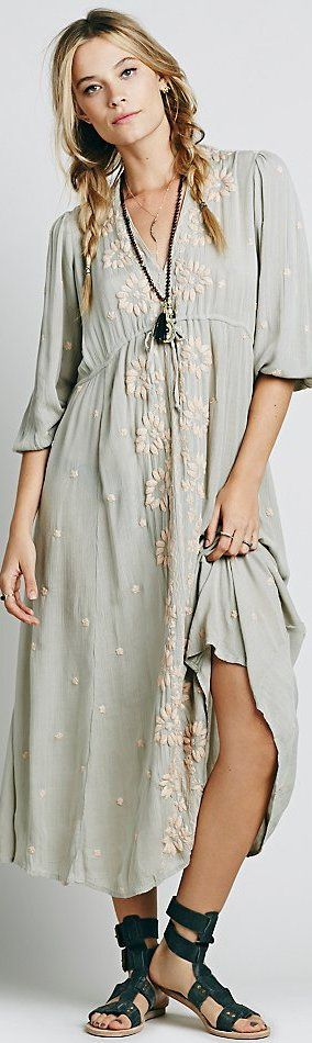 Free People Embroidered Fable Dress I have this dress Love It!