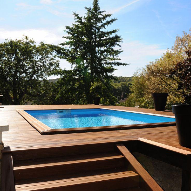 la piscine semi enterr e piscine semi ent piscine semi. Black Bedroom Furniture Sets. Home Design Ideas