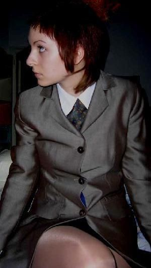 skin head girls and boys wore two tone suits