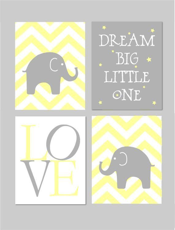Cette Liste Est Pour Un Telechargement Instantane Des Fichiers Jpeg Dimensions 8 X 10 Pouces Elephant Nursery Elephant Nursery Girl Nursery Wall Art Yellow