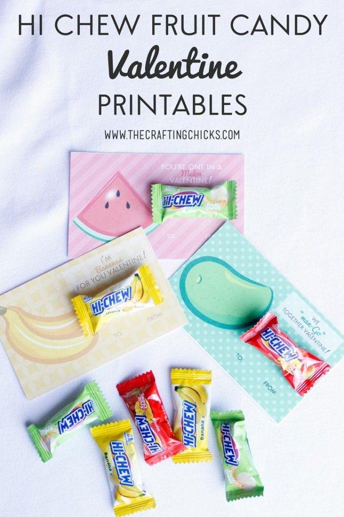 HI-Chew Fruit Candy Valentine Printables - Love these fun and easy Valentine printables!