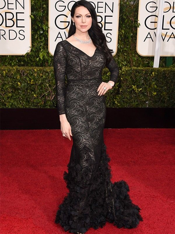 "Laura Prepon, de ""Orange is the new black"", no Globo de Ouro 2015"