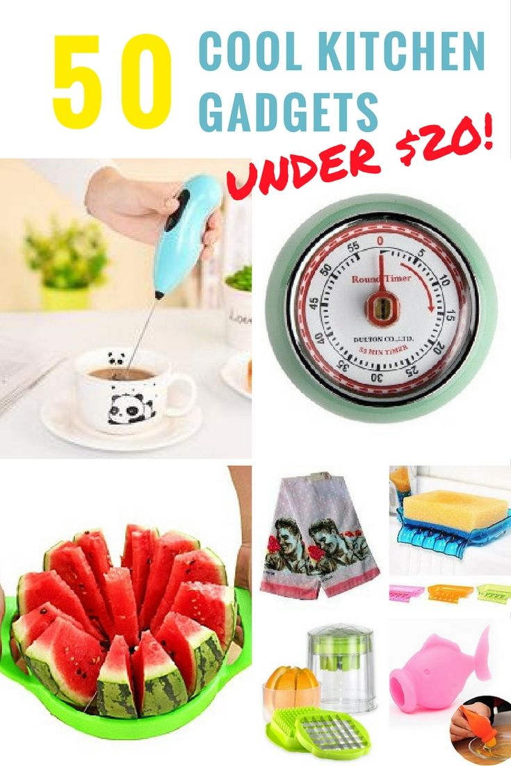 Every time I am near one of those cool kitchen gadget stores I have to stop.  Even if I am not really looking for anything in particular, I've got my eyes peeled for the latest in kitchen gadgets.  50 Plus Cool Kitchen Gadgets under $20. via @Buy This Cook That