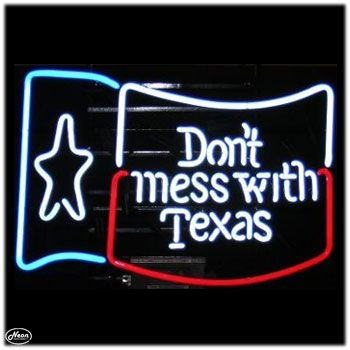 Dont Mess with Texas Flag Neon Sign