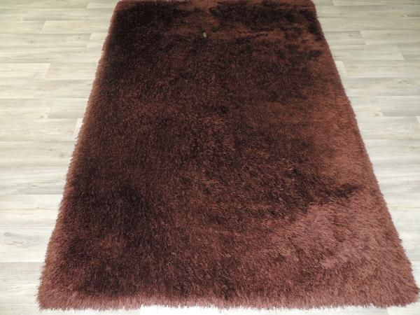 Soft Shaggy Rug  Chocolate Brown  Size: 155 x 225cm