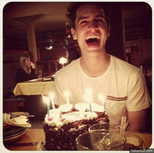 Beebo on his birthday. They grow up so fast...