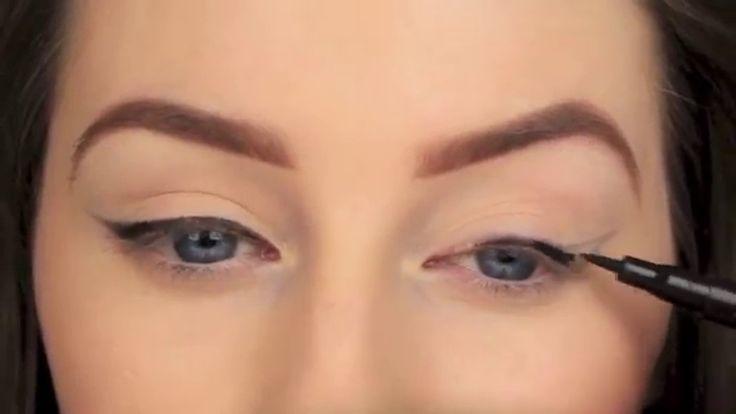 Perfect winged eyeliner tutorial!