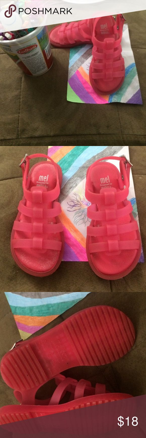 Melissa jelly sandals Used some fadding inside the shoes Melissa Shoes Sandals & Flip Flops