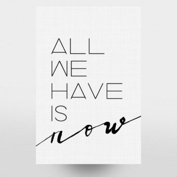 All We Have Is Now Poster Zitate zeichnen, Poster