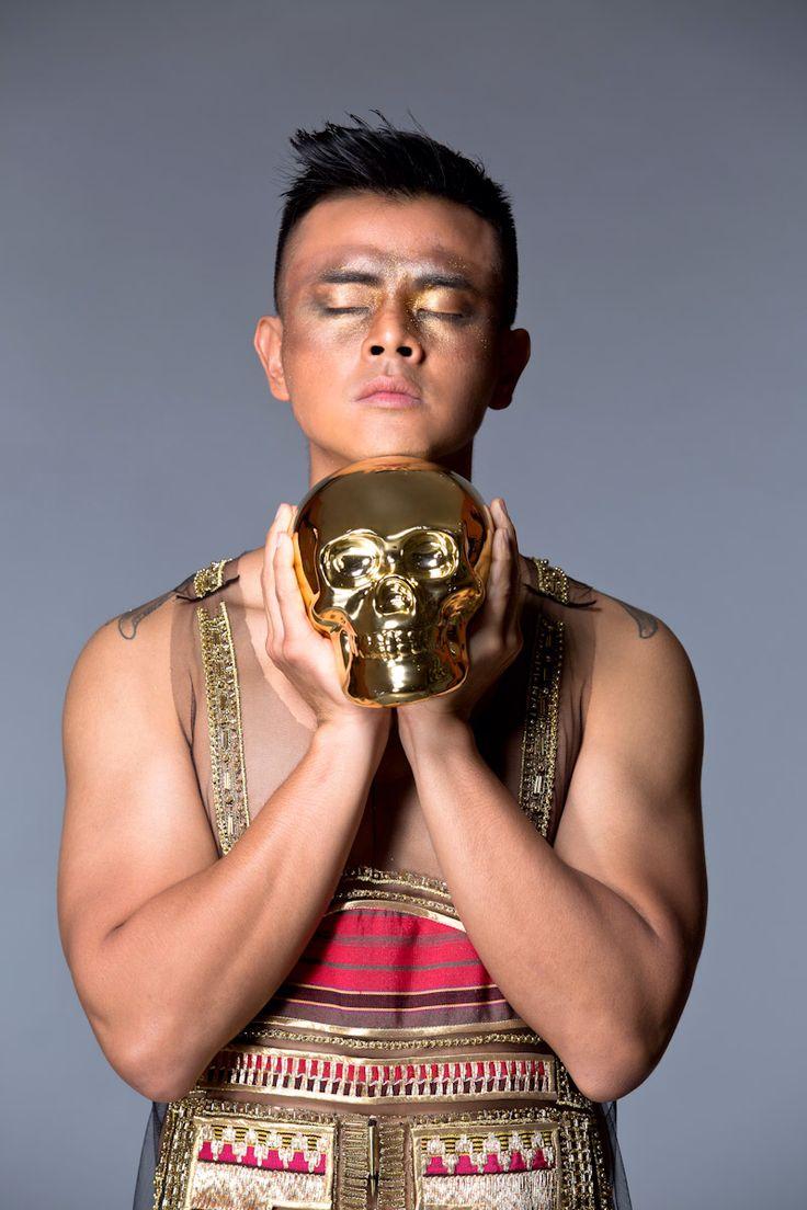 Dion Wiyoko in Priyo Oktaviano for Indonesia Fashion Week 2014's Photo…