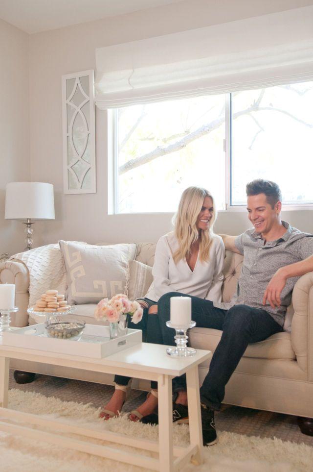 Inside Jason Kennedy And Lauren Scruggs's Stylish First Home Together  - ELLEDecor.com