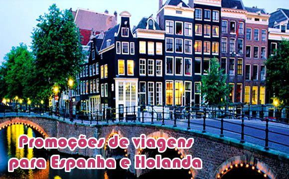 Voos e hoteis em promoção na Espanha e Holanda #amsterda #madri #viagem #promoção