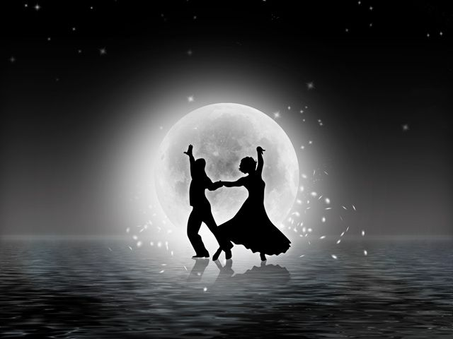 Dancing in the moonlight with someone you love is one of the most romantic things in the world. ;-)