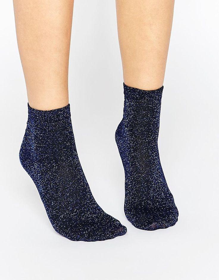 Image 1 ofASOS Glitter Socks