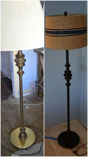 floor lamp makeover, flooring, home decor, lighting, repurposing upcycling