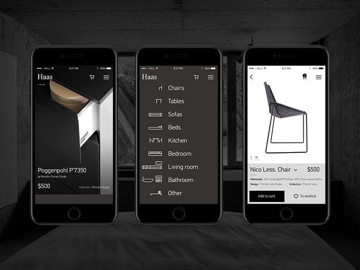 Website Design designer furniture. Mobile version.  Thank you!