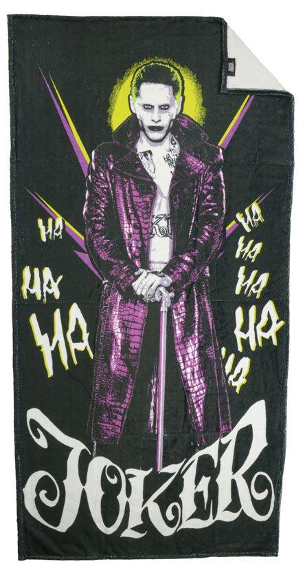 Toalla de playa Escuadrón Suicida, Joker, Ha Ha Ha, 150 x 75 cm  Toalla de playa con la imagen del Joker, uno de los componentes del Escuadrón Suicida, perteneciente al universo DC Comic.